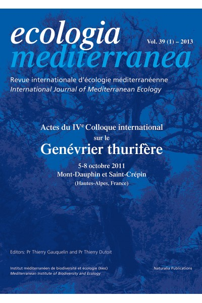 Ecologia mediterranea Vol. 39 - 2013