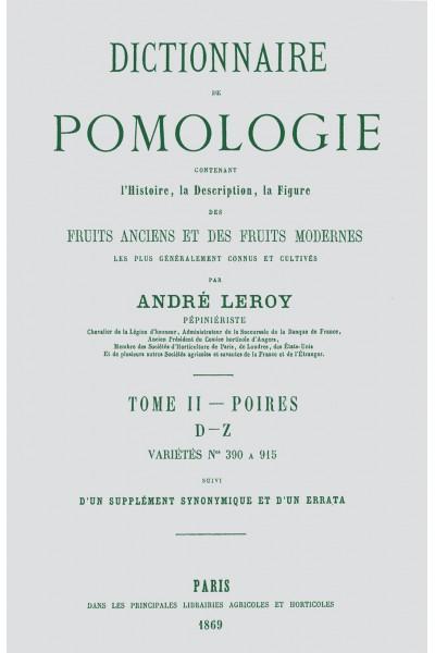 Dictionnaire de pomologie, tome II : Poires