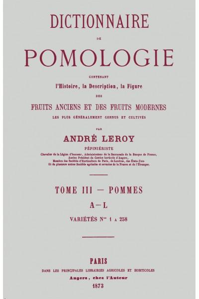 Dictionnaire de pomologie, tome III : Pommes