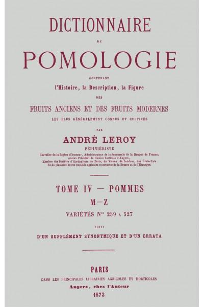 Dictionnaire de pomologie, tome IV : Pommes